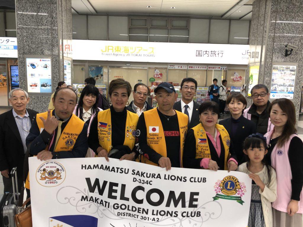 マカティゴールデンライオンズクラブの会員さんが、わが町浜松へ立寄って下さいました